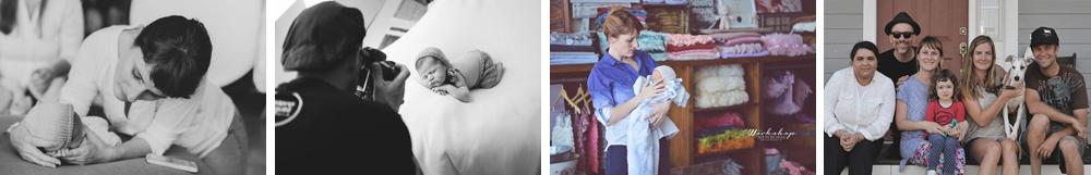 melero rodriguez fotografiando a bebes en estudio y junto a Brittany Woodall